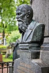 Fyodor Dostoyevsky's grave in St. Petersburg, Russia