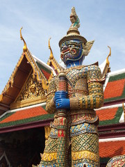 Giant demon (Yaksha) guardian of the Temple