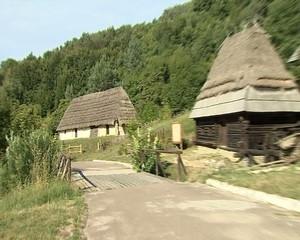 Ancient architecture Ukrainian huts