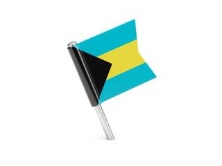 Flag pin of bahamas