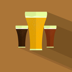Flat design style modern beer icon vector illustration