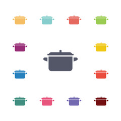 pot flat icons set