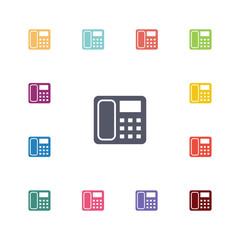 telephone flat icons set