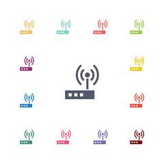 modem flat icons set