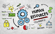 Leinwanddruck Bild - Human Resources Employment Job Teamwork Vision Concept
