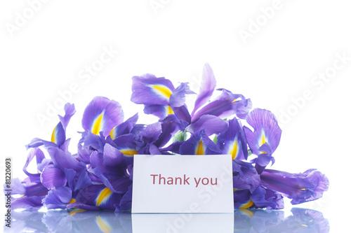 Staande foto Iris bouquet of irises