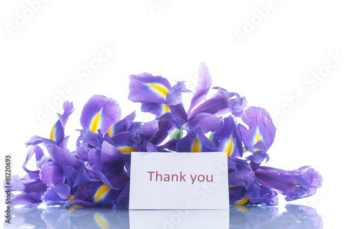 Foto op Canvas Iris bouquet of irises