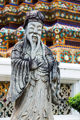 Stone Statue in Wat Pho temple, Bangkok, Thailand