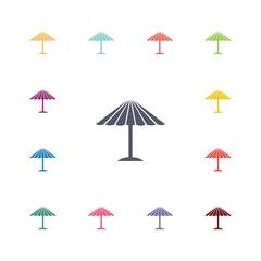 parasol mask flat icons set
