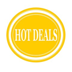 Hot deals white stamp text on yellow