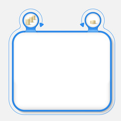 Abstract frame for your text and coin