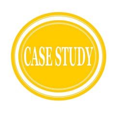 Case study white stamp text on yellow