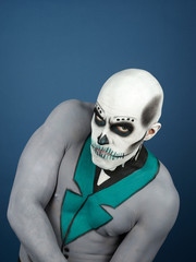Bodypainted male