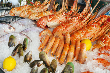 Fresh seafood at the market