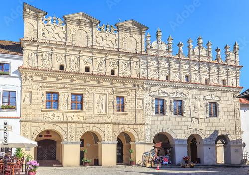 Panel Szklany Kazimierz Dolny, renesansowe kamienice Krzysztofa i Mikołaja