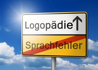 Logopädie, Sprachfehler Schild