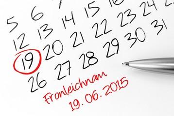 Fronleichnam 2015 Kalender