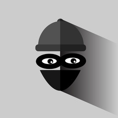 vector Flat Icon, Thief