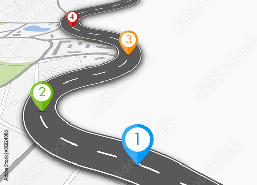 Zdjęcia na płótnie, fototapety, obrazy : road infographic