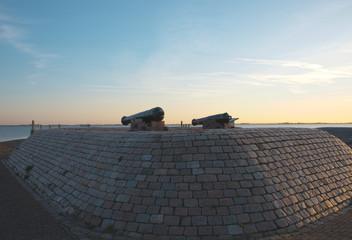 two cannon in Hellevoetsluis