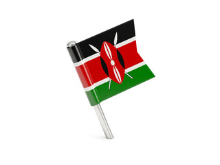 Flag pin of kenya