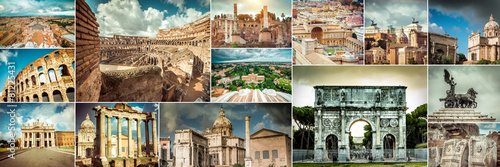 Collage of photos from Rome