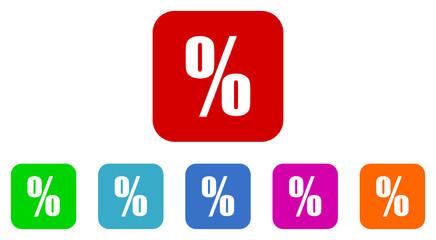 percent vector icon set