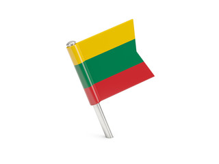 Flag pin of lithuania