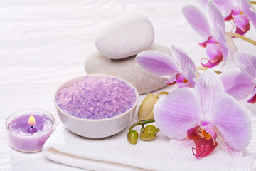 spa and bath with orchids © Dmytro Titov