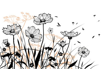 Vector floral elements.