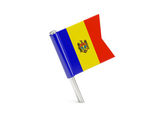 Flag pin of moldova