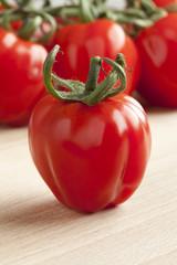 Single tomato close up