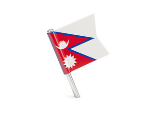 Flag pin of nepal