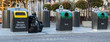 Leinwanddruck Bild - poubelle de recyclage