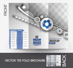 Football Competition Mock up & Tri-Fold Brochure Design.
