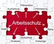 Leinwanddruck Bild - Vorbeugung - Arbeitsschutz - Puzzles