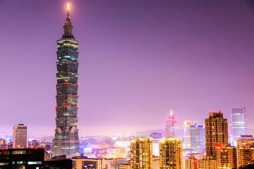 台北 台北101 夜景イメージ