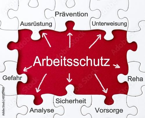 Leinwanddruck Bild Vorbeugung - Arbeitsschutz - Puzzles