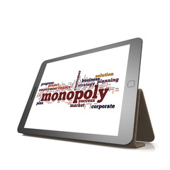 Monopoly word cloud on tablet
