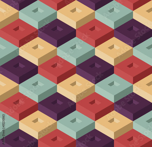 Tapeta Cubes seamless pattern