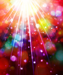 Colorful lights background.