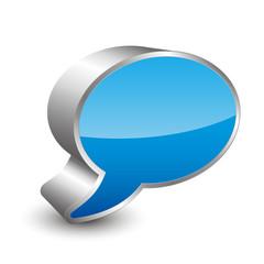 Dialog 3D icon