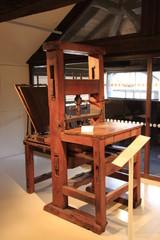 ancienne presse du musée Champollion