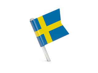 Flag pin of sweden