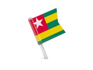 Flag pin of togo