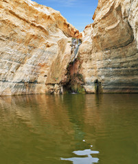 Sandstone canyon walls