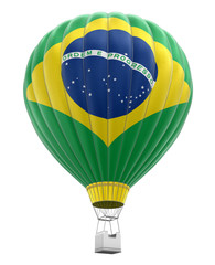 Hot Air Balloon with Brazillian Flag (clipping path included)