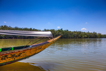 Travel in the native boat