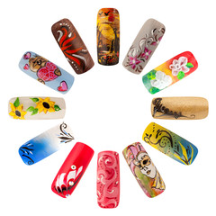 Nail art handmade