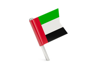 Flag pin of united arab emirates